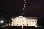 Easter lightening over white house, occupant fine